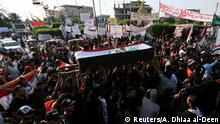 Irak Anti-Regierungsproteste | Ausschreitungen & Gewalt in Kerbala | Trauer & Sarg