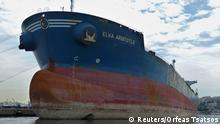 ARCHIV 2018 *** A Greek oil tanker Elka Aristotle is seen in Pireas, Greece May 17, 2018 in this picture obtained from social media. Orfeas Tsatsos/via REUTERS ATTENTION EDITORS - THIS IMAGE HAS BEEN SUPPLIED BY A THIRD PARTY. MANDATORY CREDIT. NO RESALES. NO ARCHIVES.