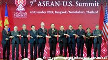 04.11.2019 *** 191104 -- BANGKOK, Nov. 4, 2019 Xinhua -- Guests attending the 7th ASEAN-U.S. Summit pose for a group photo during the summit in Bangkok, Thailand, Nov. 4, 2019. Xinhua/Rachen Sageamsak THAILAND-ASEAN-U.S.-SUMMIT PUBLICATIONxNOTxINxCHN