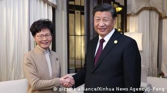 Chinese President Xi Jinping meets Hong Kong Chief Executive Carrie Lam in Shanghai amid escalating violence in the Chinese territory.