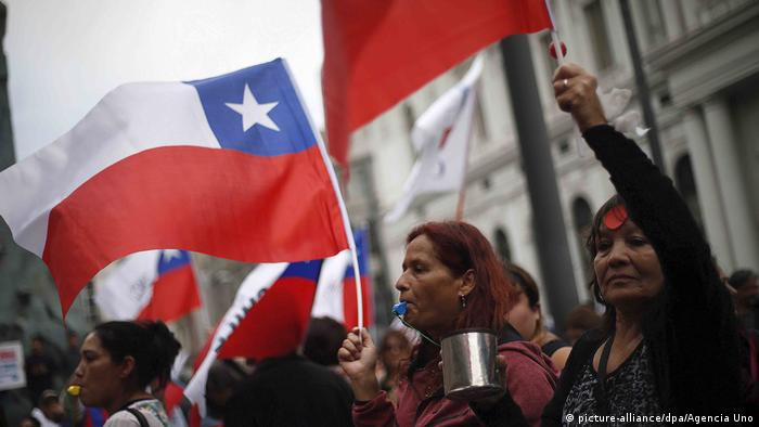 Chile protests in Santiago