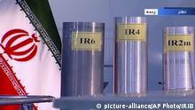 Three versions of Iran's domestically-built centrifuges — IR6, IR4 and IR2m