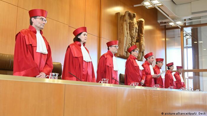 Karlsruhe'deki Federal Anayasa Mahkemesi Almanya'da en yüksek yargı mercii