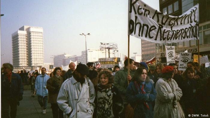 Demonstraţii de solidaritate cu România, la Berlin, toamna 1989