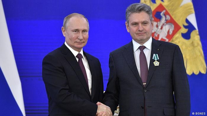 Малинов с Путин в Москва