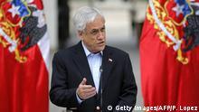 Chile Krise l Massenproteste - Präsident Sebastian Piñera