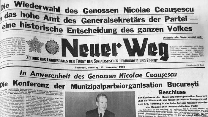 Rumänische Zeitungen zum Thema Fall der Berliner Mauer
