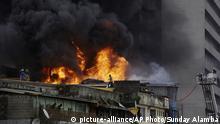 Nigeria | Brand auf dem Balogun-Markt