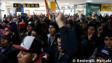 Bolivien Proteste l Anhänger von Morales protestieren gegen Luis Fernando Camacho