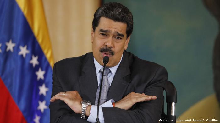 Venezuela Caracas | Nicolas Maduro, Präsident (picture-alliance/AP Photo/A. Cubillos)