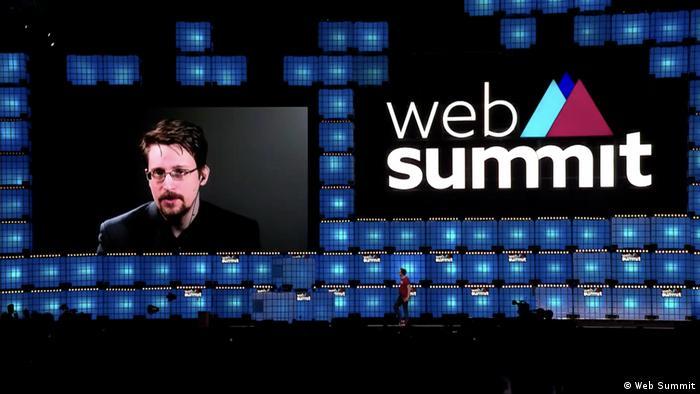 Portugal Web Summit 2019 in Lissabon | Whistleblower Edward Snowden