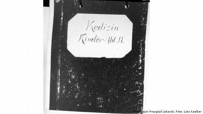Odnaleziony po wojnie zeszyt dokumentujący leczenie dzieci z oddziału B