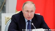 MOSCOW, RUSSIA - NOVEMBER 5, 2019: Russia s President Vladimir Putin holds a meeting of the Presidential Council on Russian Language at Moscow s Kremlin. Mikhail Metzel/TASS PUBLICATIONxINxGERxAUTxONLY TS0C1D10