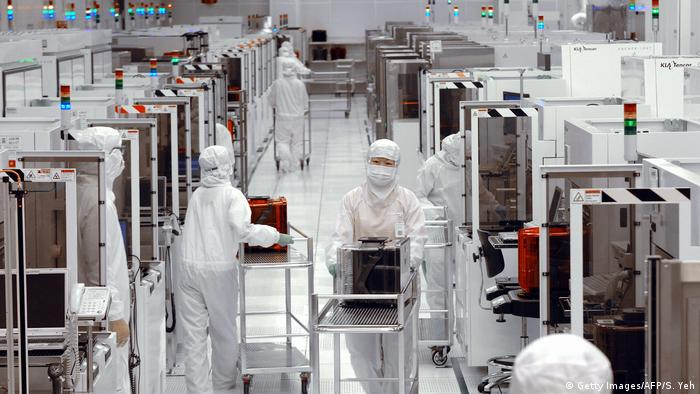 Engineers at the UMC chip factory in Taiwan