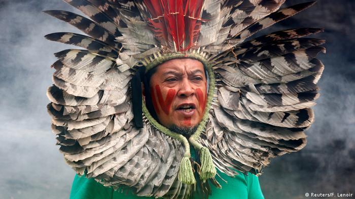 BdTD Belgien Protest gegen die Zerstörung des Amazonas Regenwaldes (Reuters/F. Lenoir)