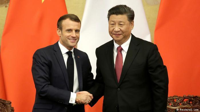 China Treffen Emmanuel Macron und Xi Jinping