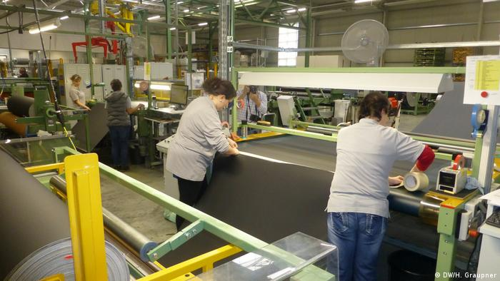 Работницы завода компании C.H. Müller в Фогтланде