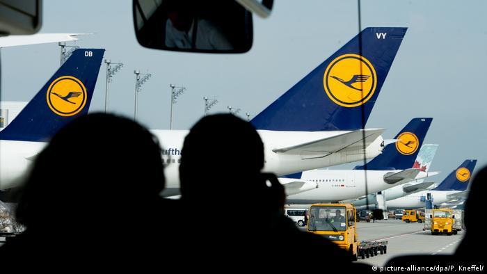Lufthansa Piloten Streik - Situation München Flughafen (picture-alliance/dpa/P. Kneffel/)