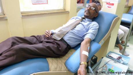 Äthiopien Addis Abeba Blutspende