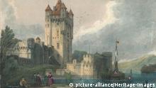Замок в Эльтвилле-ам-Райн на картине 1834 года