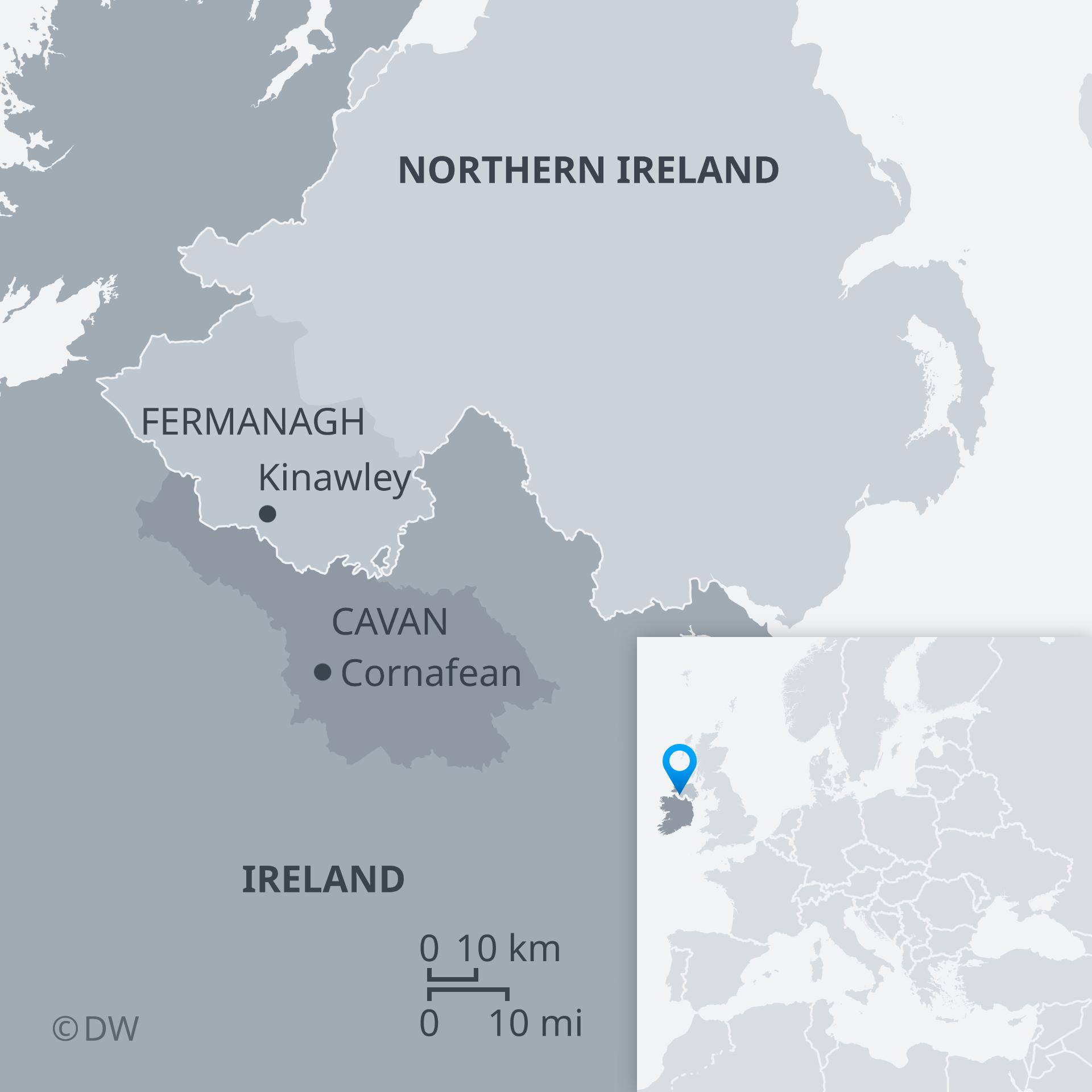Map of Northern Ireland / Ireland