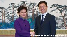 China l Hongkongs Regierungschefin Carrie Lam zu Besuch bei Han Zheng in Peking