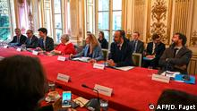 French Prime Minister Edouard Philippe leads a meeting focused on immigration policies at the Hotel Matignon in Paris, France November 6, 2019. Dominique Faget/Pool via REUTERS