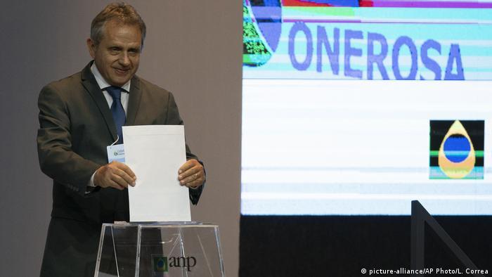 Brasilien Rio de Janeiro Petrobras Öl Auktion (picture-alliance/AP Photo/L. Correa)