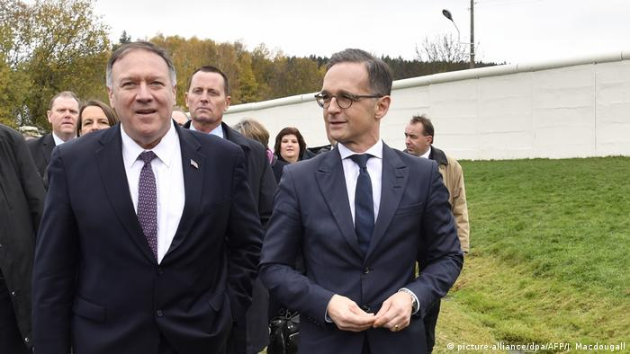 Mike Pompeo and Heiko Maas