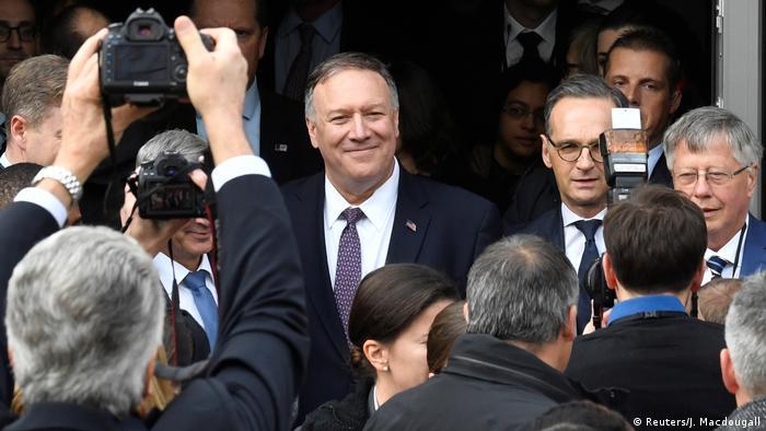 Mike Pompeo n'en est qu'a sa deuxième visite en Allemagne en tant que Secrétaire d'Etat.