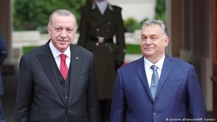 Turkish President Recep Tayyip Erdogan meets with Hungarian Prime Minister Viktor Orban in Budapest, Hungary