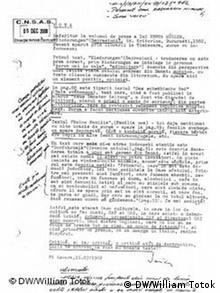 Dokumente aus der Securitate-Akte
