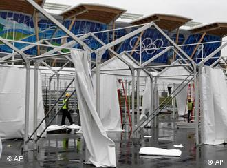 Arbeiter im Olympic Oval in Richmond, British Columbia, Foto: ap