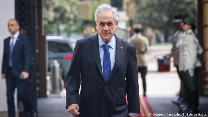 Chile Präsident Sebastian Pinera (picture-alliance/dpa/S. Beltran Gaete)