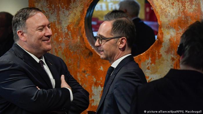 Leipzig US-Außenminister Pompeo und Maas