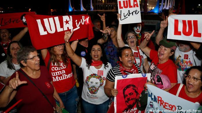 Supporters of Lula Da Silva in Brazil