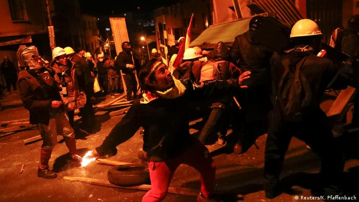 Bolivien Protest (Reuters/K. Pfaffenbach)