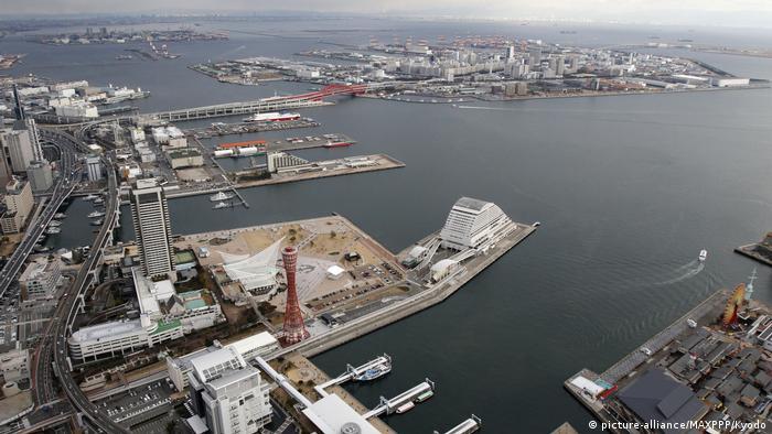 Kobe Port in west Japan