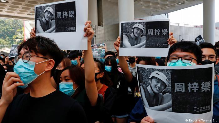 Hongkong | Gedenken an getöteten Studenten (Reuters/Tyrone Siu)