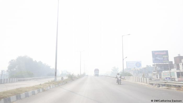 A thick layer of smog envelops India's capital, Delhi
