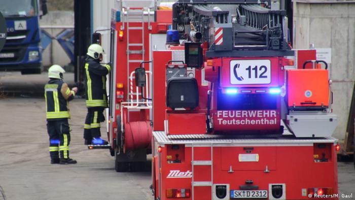 Teutschenthal fire brigade attend the scene
