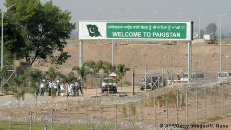Foto de frontera entre India y Pakistán
