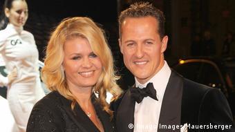 Michael Schumacher y su esposa Corinna en 2010.