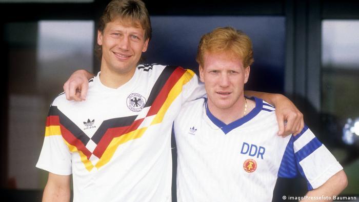 Fußball   Trikot   BRD   DDR   Guido Buchwald   Mathias Sammer