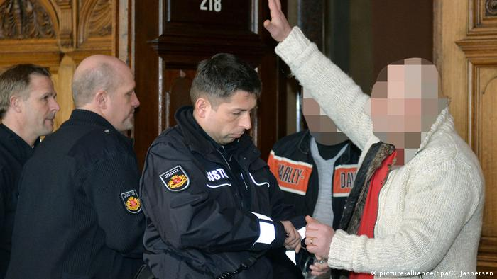 A clan member in court