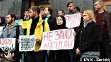 Ukraine Kiew Protestaktion von Angehörigen der Opder des Euromaidan