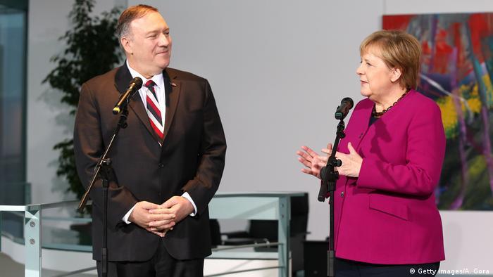 ABD Dışişleri Bakanı Mike Pompeo ve Almanya Başbakanı Angela Merkel