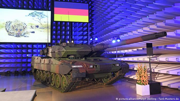 The German-made Leopard 2 tank