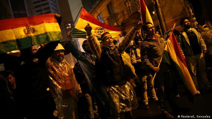 Manifestantes en La Paz.