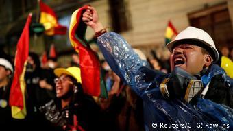 Protest gegen Boliviens Präsidenten Evo Morales in La Paz